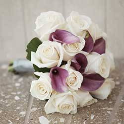 Twelve Rose Calla Lily Mix Bouquet