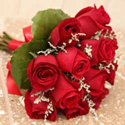 Twelve Rose Hand Tied Bouquet