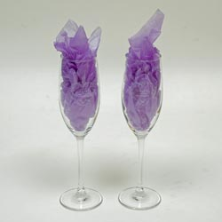 Remember your wedding ceremony with a pair of keepsake champagne flutes