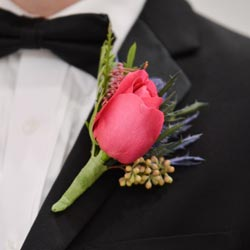 Custom Boutonniere for Las Vegas Wedding