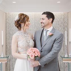 Designer Wedding Dress and Tuxedo