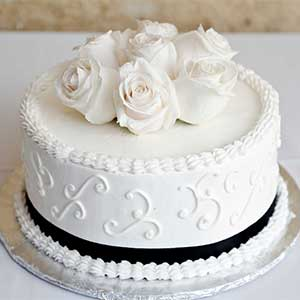 Small Elegant Wedding Cake