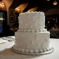 "6"" x 8"" Splendid Wedding Cake for Las Vegas Wedding"