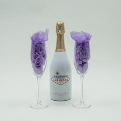 Chapel of the Flowers 'Welcome to LV' Champagne Gift Set for Las Vegas Wedding